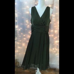 Olive green dress